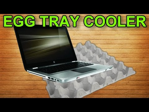 Keep Your Laptop Cool With An Egg Carton