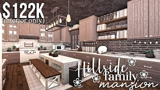 Hillside Family Mansion (part2 -interior) | Bloxburg House Build | GamingwithV