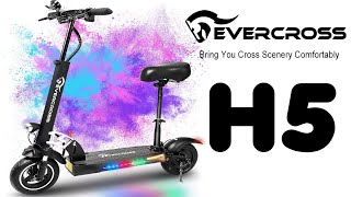 EverCross H5 Electric Scooter Unboxing and Setup 800W Motor