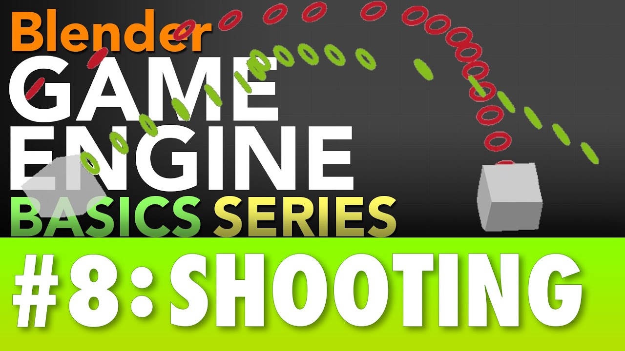 Blender Game Engine Basics Tutorial #8 : Shooting #b3d #gamelogic