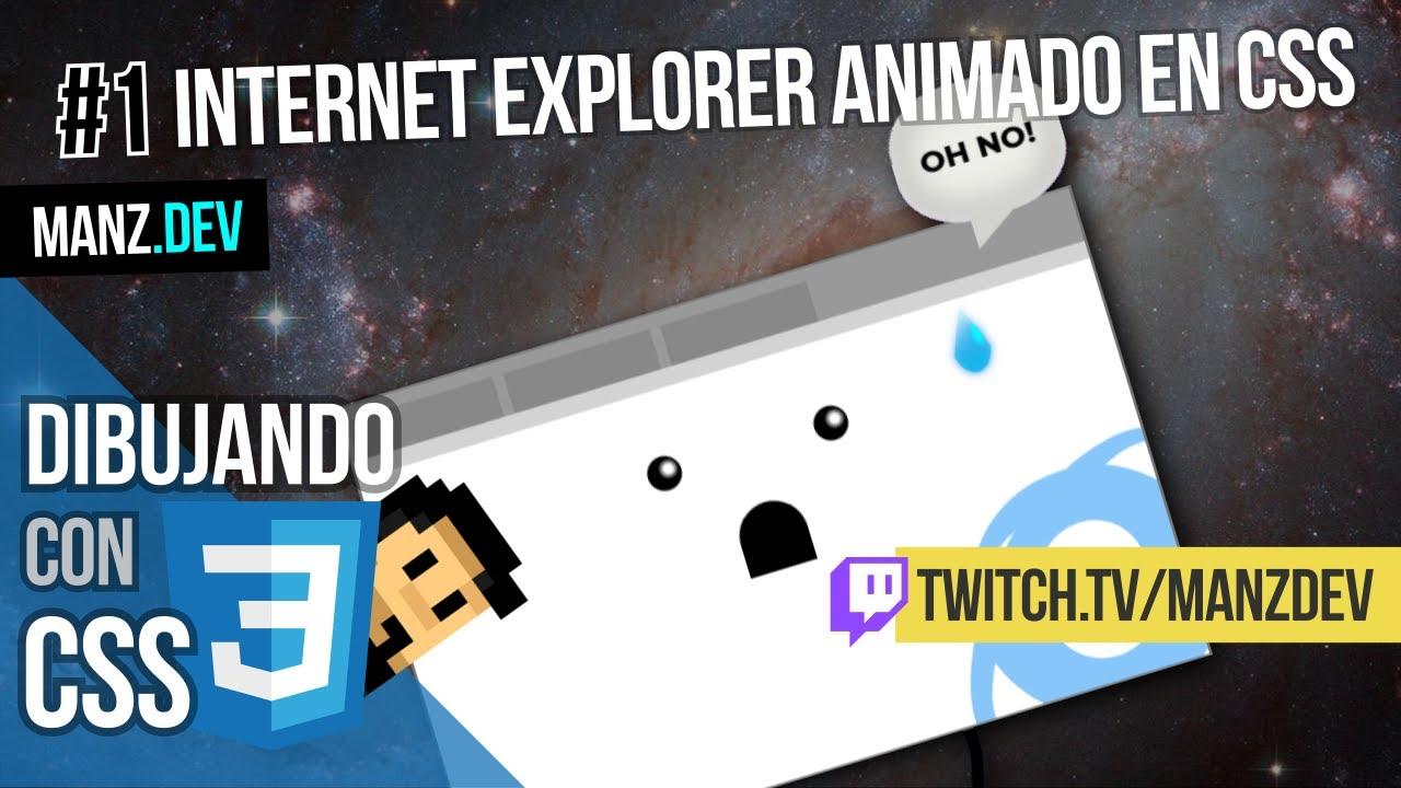 Dibujando un Internet Explorer animado con CSS