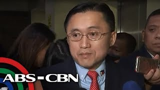 Sen. Bong Go talks to reporters as Senate hears issues involving ABS-CBN franchise | ABS-CBN News
