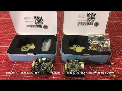 Holybro Kakute F7 Mini Tekko32 F3 45A Unboxing