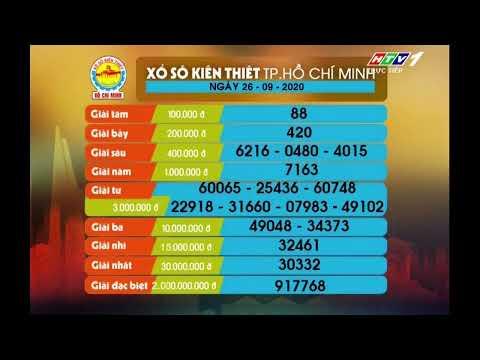 Xổ số kiến thiết TP.HCM || HTV1 || 26/09/2020