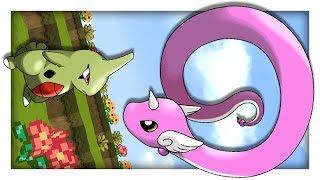 애버라스  - (포켓몬스터) - 애버라스 미뇽이 진화하면?! [귀여운 친구들이 어떻게 변할까?] 마인크래프트 탁주 쪼꼬 포켓몬 #107