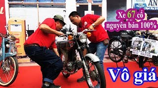 Xe 67 cổ Vô Giá của ông lão ở Sài Gòn - Old motorcycles, historic motorbikes in Sai Gon