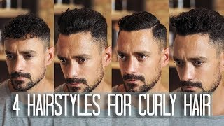 4 Mens Hairstyles For Curly Or Wavy Hair | How To Style Your Hair