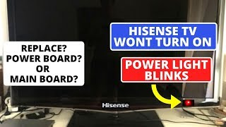 How to fix Hisense TV Not Powering On But Red Light is On || Hisense TV Won't Turn On
