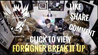 """Alex Shumaker 11 year old drummer """"Break It Up"""" Foreigner"""