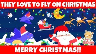 Pterodactyls Love To Fly On Christmas | Christmas Songs | HiDino Kids Songs With Fun Stories