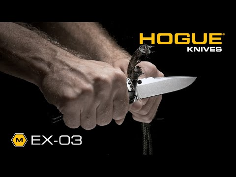 "Hogue Knives EX03 Knife Drop Point Black (4"" Tumble Plain) 34350"