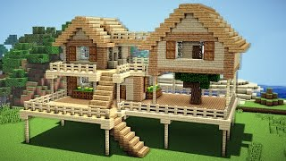 Minecraft: Survival House Tutorial - How to Build a House in Minecraft
