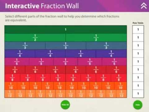 Screenshot of video: Fractions App
