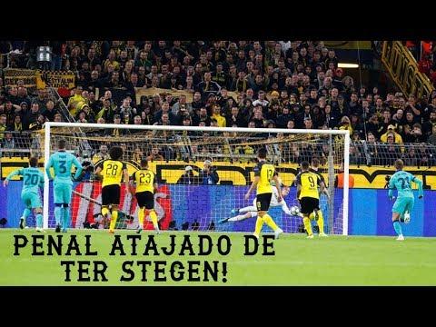 TER STEGEN le ATAJA el PENAL a MARCOS REUS/ UEFA CHAMPIONS LEAGUE
