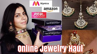BEST AFFORDABLE INDIAN JEWELRY ONLINE HAUL PART 1 II AMAZON INDIA, MYNTRA, NYKAA