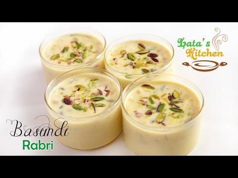 Basundi Recipe – Rabri Recipe — Indian Vegetarian Dessert in Hindi with English Subtitles