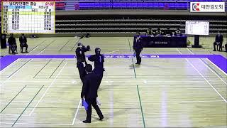 제25회 춘계 전국실업검도대회 남자부단체전 결승 달서구청, 무안군청 대한검도회