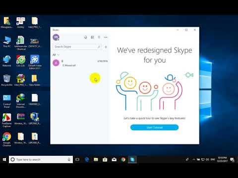 Skype windows 10 version 1709