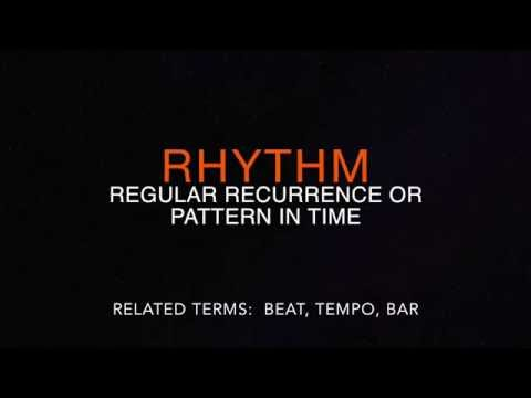 Understanding rhythmic patterns, and basic rhythmic notation.