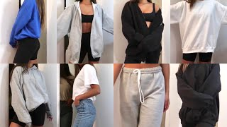 BEST AFFORDABLE SWEATSUIT + LOUNGEWEAR TRY ON HAUL 2020 | Basic Gildan Crew, Sweatpants And Hoodies