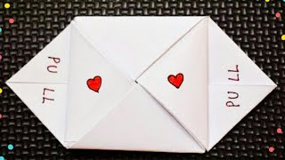 Easy Cute Valentines Day Note | DIY Valentine's Day Letter Folding Ideas #friendshipdaycrafts