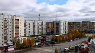 г. Ухта, Республика Коми. Сентябрь 2015. timelapse