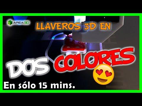 Imprime Llaveros 3D En Varios Colores  En  ¡15 Minutos!