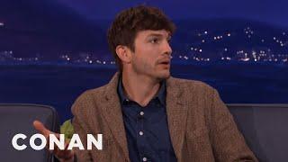 Ashton Kutcher Wanted To Name His New Baby Hawkeye | CONAN on TBS