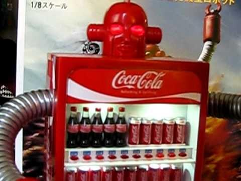 Coca Cola Zero Vending Machine Robot Coke Black Figure 1 8