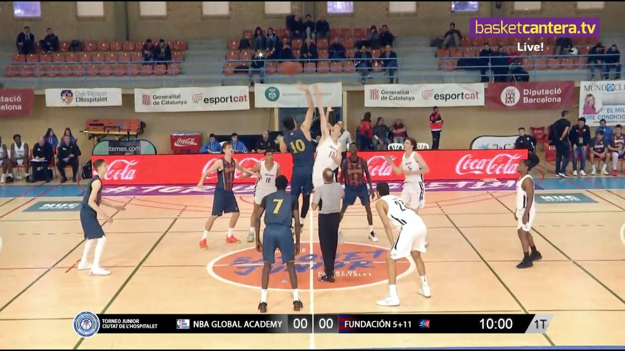 U18M - NBA GLOBAL ACADEMY vs BASKONIA FUNDACION 5+11. Torneo Junior Hospitalet-20 (BasketCantera.TV)