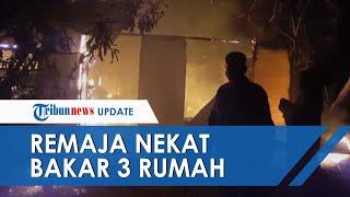3 Rumah Milik Satu Keluarga di Riau Ludes Dilahap Api, Diduga Sengaja Dibakar Anak Pemilik Rumah