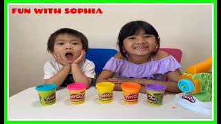 Playdoh Noodles Learn Colors for Kids