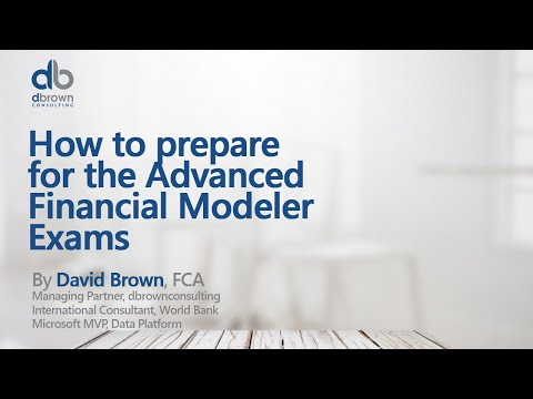 How to prepare for the Advanced Financial Modeler Exams - YouTube