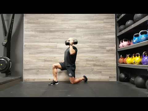 Half-Kneeling Single Arm Dumbbell Curl to Press