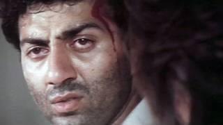 Sunny Deol Dimple Kapadia Prem Chopra Aag Ka Gola  Scene 9/11