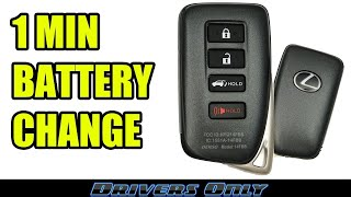 Lexus Key FOB Battery Replacement (Smart Key Remote) - RX 350, NX 300, LX 570, ES 350, RC 350, IS