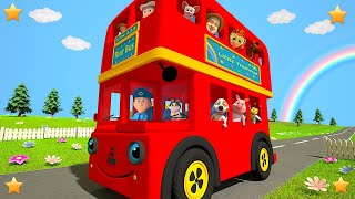 Red Wheels on the Bus | Kindergarten Nursery Rhymes & Songs for Kids by Little Treehouse