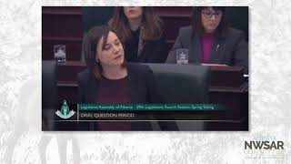 MLA for Grande Prairie-Smokey questioning the cost of caribou protection