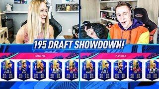 CRAZY 195 TOTS RATED FUT DRAFT SHOWDOWN vs Miniminter!! FIFA 19 Ultimate Team