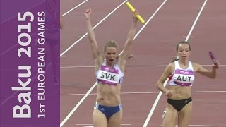 Slovakia Victorious In The Womens 4x100m | Athletics | Baku 2015 European Games