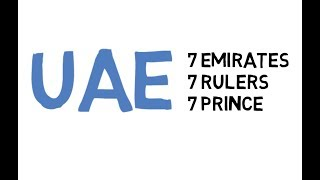 UAE - 7 Emirates 7 Rulers 7 Prince