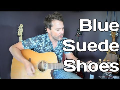 How To Play Blue suede Shoes