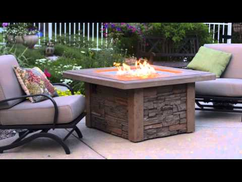 Sierra Square Gas Fire Pit Table - The Outdoor GreatRoom Company