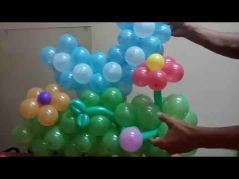 Цифра три из воздушных шаров/Number three of the balloons