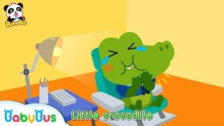 Little Crocodile Keeps Eating Candy All Day Long | Brush Teeth Song | Kids Good Habits | BabyBus