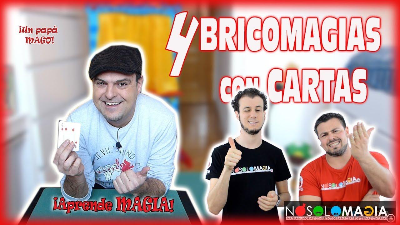 4 BRICOMAGIAS CON CARTAS FÁCILES (con NOSOLOMAGIA) | APRENDE MAGIA | Is Family Friendly