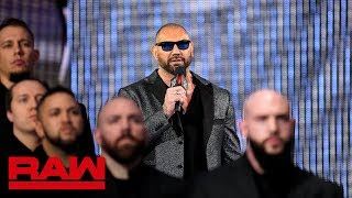 Triple H and Batista agree to a No Holds Barred Match at WrestleMania: Raw, March 11, 2019