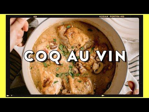 Comfort French Chicken Stew with White Wine – Simple Coq Au Vin Recipe | HONEYSUCKLE