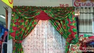 GINAS CURTAINS (V-123) Standard Size Christmas Swag Curtain.