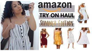 TRY ON HAUL SUMMER + BEACH DRESSES | AMAZON HAUL